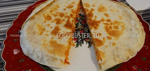 Кесадилья с курицей и сыром рецепт